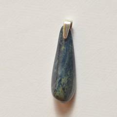 Unique handmade vivianite on sterling silver pendant 3cm x 1.1cm x 0.7cm