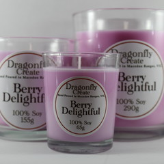 Berry Delightful | 100% Soy Wax Candle | 15/28/58 hours