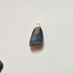 Vivianite on Sterling Silver Pendant Unique 2cm x 1cm x 0.4cm