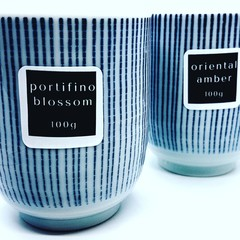 Japanese Mini Teacup Candle Duo