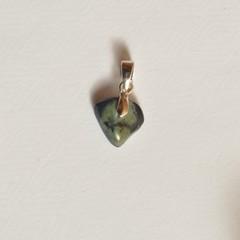 Unique handmade vivianite on sterling silver pendant 1.2cm x 1cm x 0.3cm