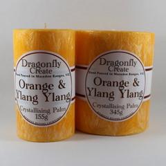 Orange & Ylang Ylang | Crystallising Palm Wax Pillar Candle | 38/42 hours