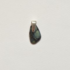 Unique handmade vivianite and sterling silver pendant 1.4cm x 0.5cm x 0.2cm