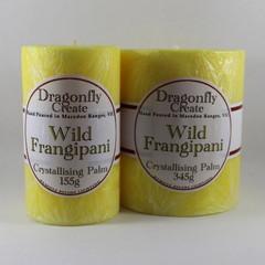 Wild Frangipani | Crystallising Palm Wax Pillar Candle | 38/42 hours