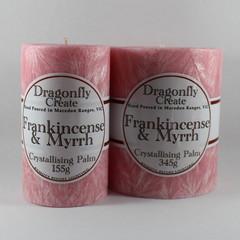 Frankincense & Myrrh | Crystallising Palm Wax Pillar Candle | 38/42 hours