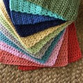 Small Size Cotton hand crocheted wash cloth.