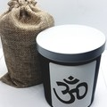 Highly Fragranced Intention Candle with Om Charm