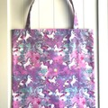 Sparkly unicorns library/shopping bag