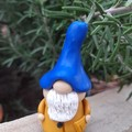 Tiny Gnome - mustard and blue