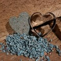 DIY seed bomb kits HEART WITH BLUE PULP