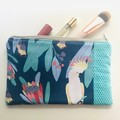 Blue cockatoo purse