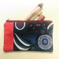Red and blue gum blossom purse