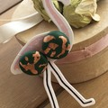Green rose gold stud nature funky plant earrings