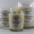 Lemongrass & Ginger | 100% Soy Wax Candle | 15/28/58 hours