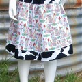 Farm Roosters-Counrty Style Skirt