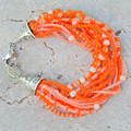 Bright Orange Seed Bead Bracelet
