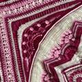 'Lost Garden' Handmade crochet heirloom quality Afghan Blanket Throw Mothers Day