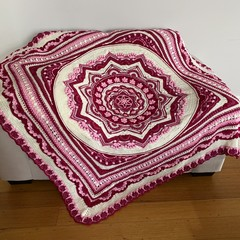 'Lost Garden' Handmade crochet heirloom quality Afghan Blanket Throw Mothers Day