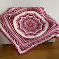 'Lost Garden' Handmade heirloom quality Afghan Blanket Throw