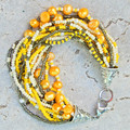 Yellow Seed Bead Bracelet
