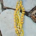 Yellow Seed Bead Bracelet