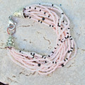 Pink Multi Strand Seed Bead Bracelet