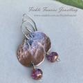 Luna Drops - Copper and Czech Glass Earrings