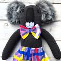 'Tas' the Sock Koala - bright & bold - *READY TO POST*
