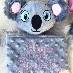 Koala 'Ruggybud' Australiana - personalised, comforter, keepsake, lovey.