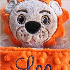 Lion 'Ruggybud' - personalised, comforter, keepsake, lovey.