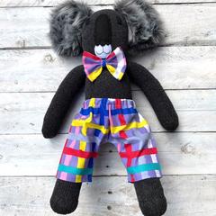 'Tas' the Sock Koala - bright & bold - *MADE TO ORDER*