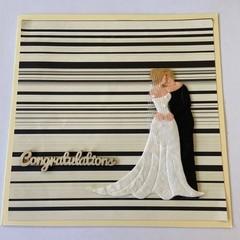 Wedding Bride & Groom Card