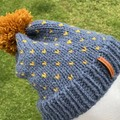 Knitted Fair Isle Beanie Pattern, fair isle knit hat pattern, knitted hat patter