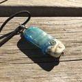 FOR HIM - UNISEX Surf Wave Handmade Glass Bead Pendant Necklace