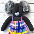 'Darwin' the Sock Koala - bright & bold - *READY TO POST*