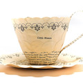 Little Women teacup - teacup made from book pages - literary curio