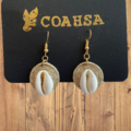 Jute & Shell earring
