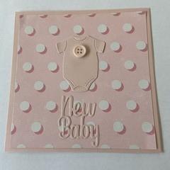 Onsie Girl New Baby  Card