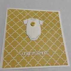Onsie Congratulations Baby  Card