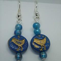 Gold Bird Earrings