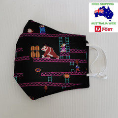 SALE! Extra large for adult male/female - Donkey Kong triple cotton washable fac