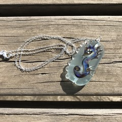 Handmade Glass Lampwork Seahorse Pendant Necklace