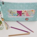 Turquoise zippered bag