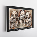 Buddha Babies Watercolour Canvas Quote Framed.
