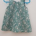 Teal floral dress