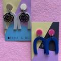 U shaped alloy earrings