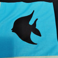 Handmade applique lap quilt/baby blanket. Ocean animals design.
