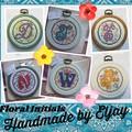 Floral Initials (Cross Stitch)