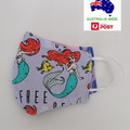 SALE! Large size for adult female/teen. The little mermaid triple layer fabric f