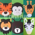 Zoo Animal Party Banner. Baby shower, First birthday, photo prop, safari, jungle